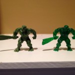 Handful of Heroes Mindless Hulk Solid and Clear Cosmic Figures