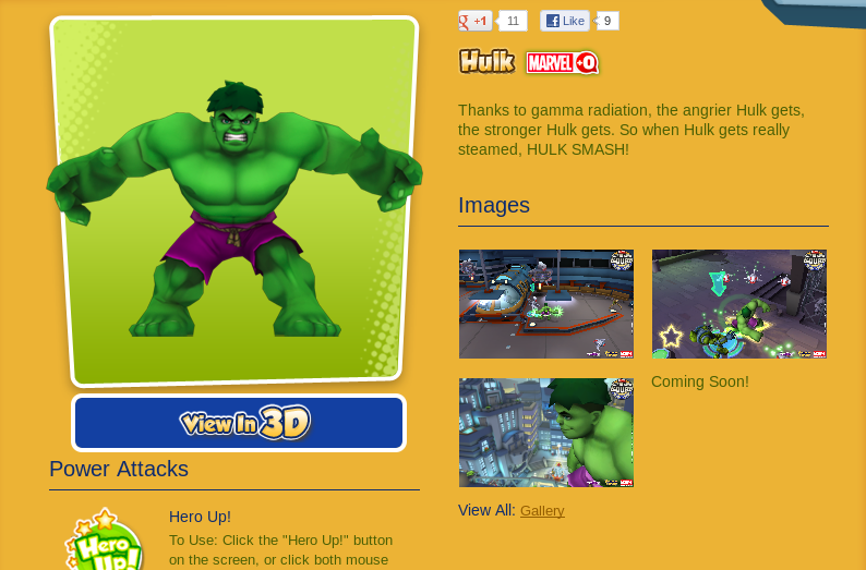 Marvel Super Hero Squad Online Game Hulk Information