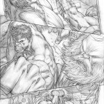 Dale Keown A + X #1 Incredible Hulk artwork