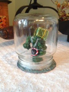 Incredible Hulk Snow Globe Christmas Ornament