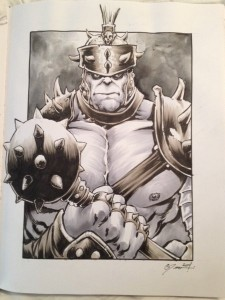 Danile Govar Planet Hulk Sketch