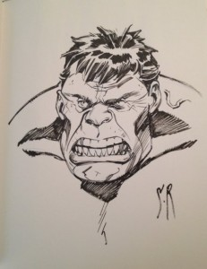Stephane Roux Hulk sketch