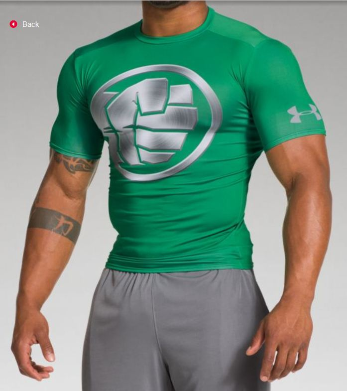 Under armour hulk 2 the incredible hulk engine of for Hulk under armour compression shirt