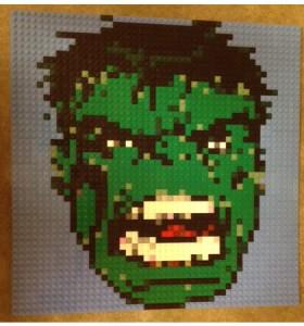 Hulk lego face
