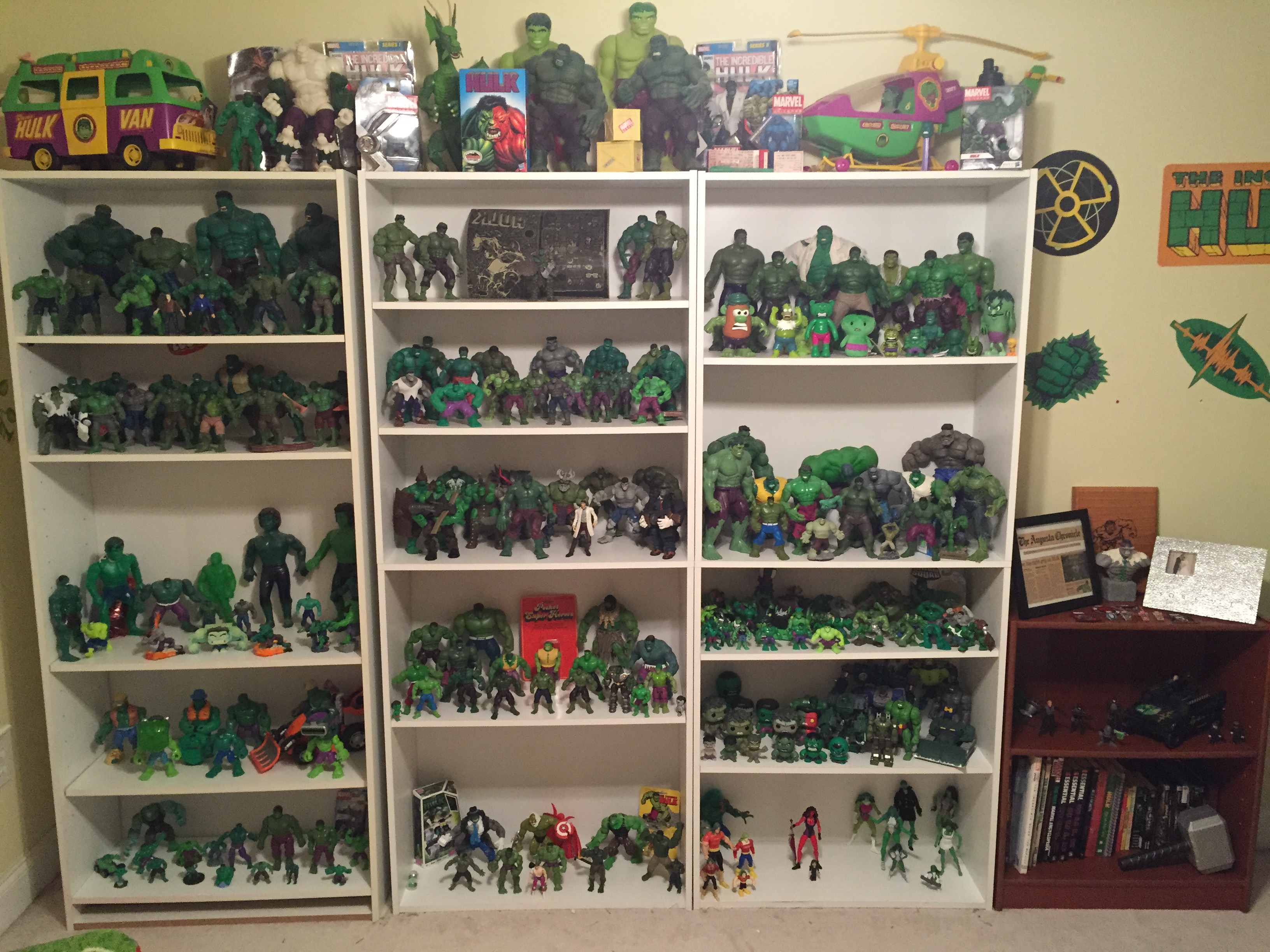 New Incredible Hulk Action Figure Set Up For My Hulk Room